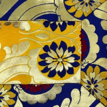 Napperon Autel jaune bleu