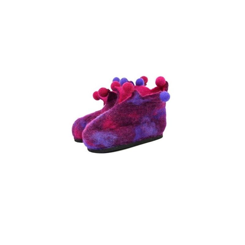 Pantoufles fille rose violet 26