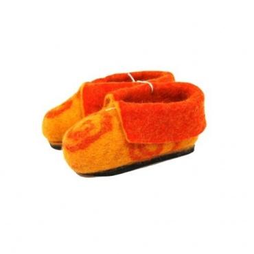 Chausson Pantoufle enfant jaune orange 30-31