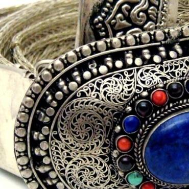 Ceinture lapis lazuli