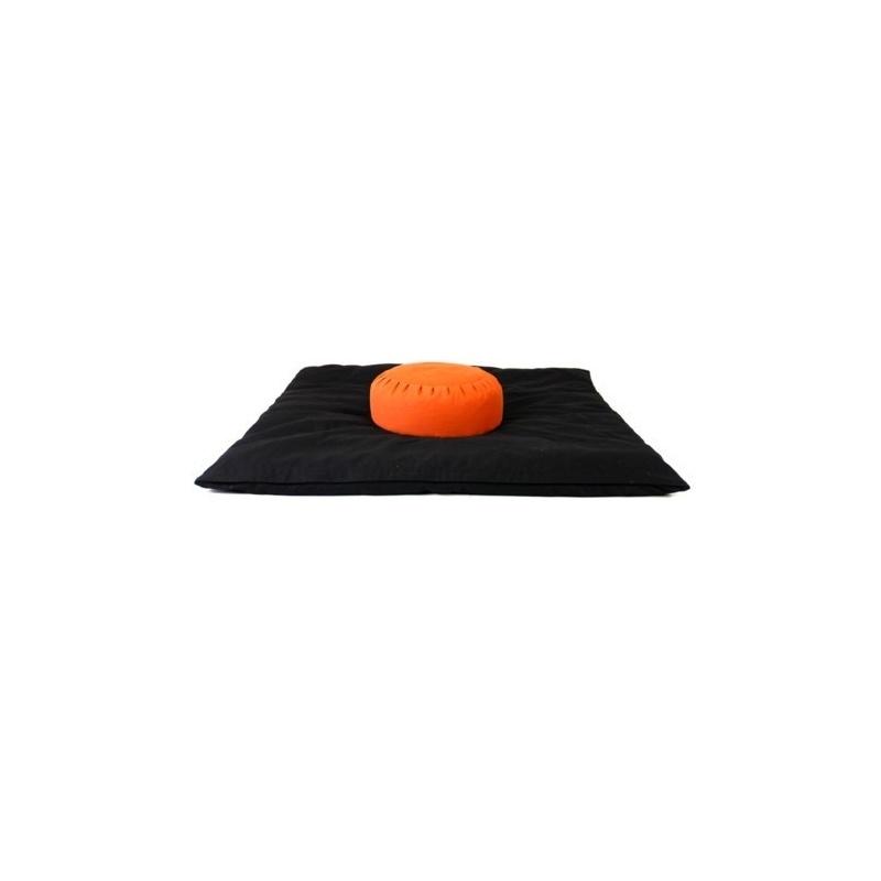 Zabuton Noir Coussin méditation Orange