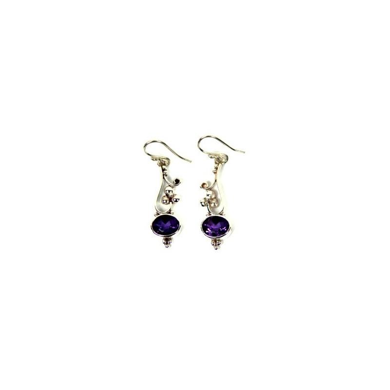 Boucles d'oreilles Originales Violettes