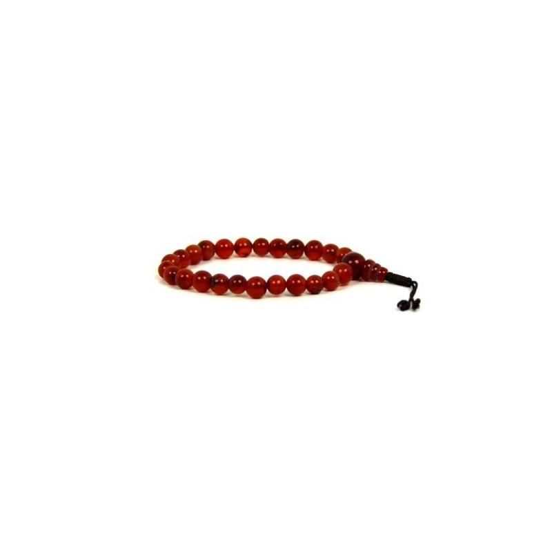 Bracelet en pierre cornaline