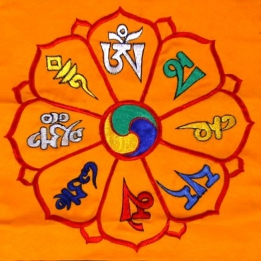 Broderie tibétaine mantra