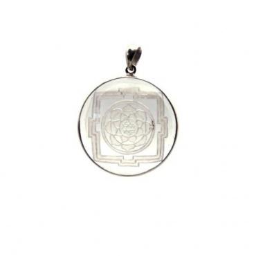 Médaillon Mandala Lotus en Cristal