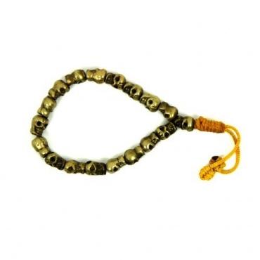 Bracelet tête de mort en laiton