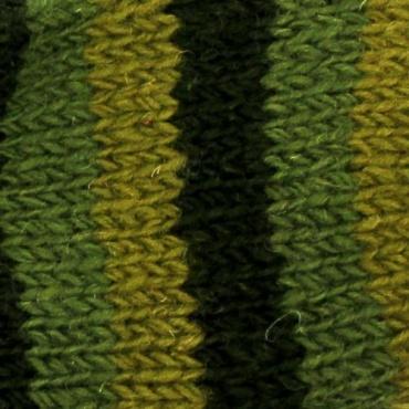 Chaussettes en laine vert ligné 38-40