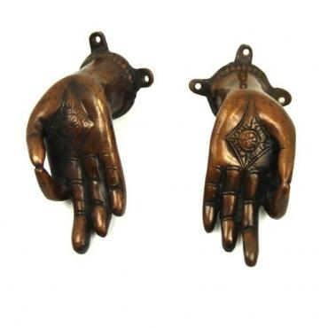 Poignées de portes mains