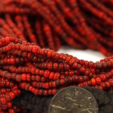 Collier rouge traditionnel Népal