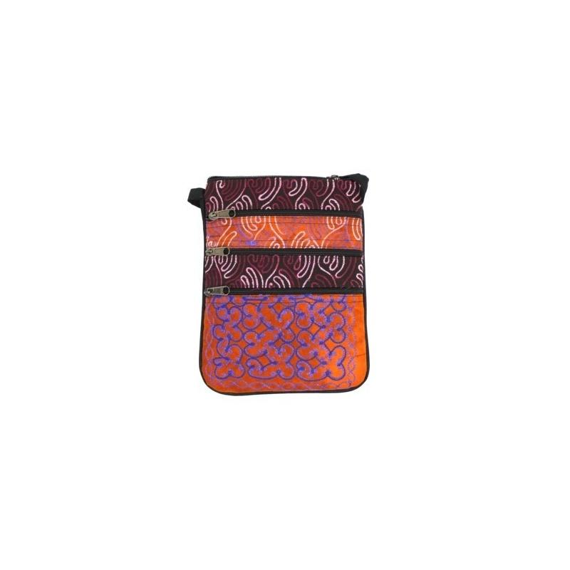 Sac Pochette brodé violet