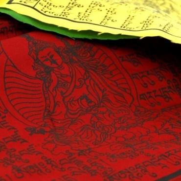 Drapeaux de prières tibétains en coton ML
