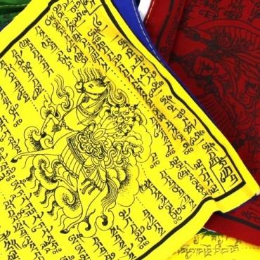 Drapeaux tibétains de prières en coton