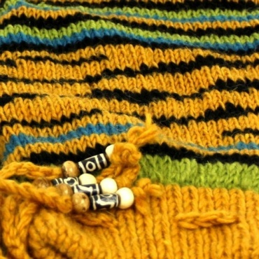 Jambières en laine fantaisies