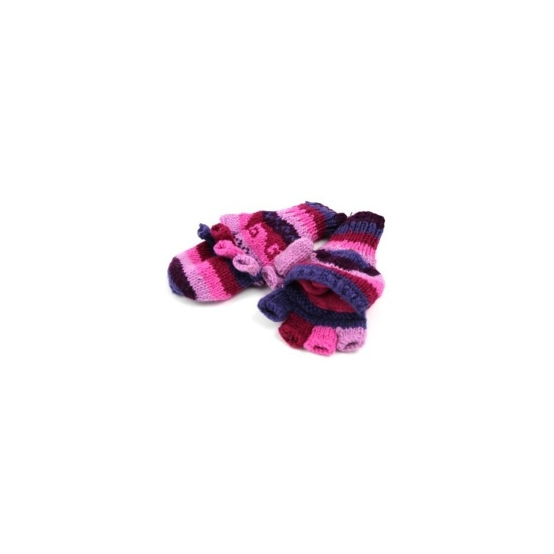 Moufles - Gants rose violet