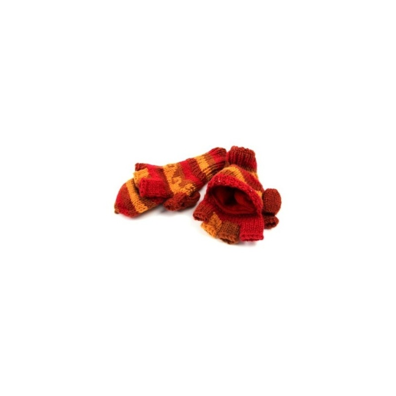 Moufles - Gants beige rouge