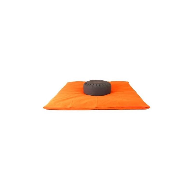 Zabuton et Coussin méditation Orange et noir