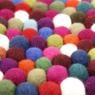 Sac en feutrine original boules de couleurs