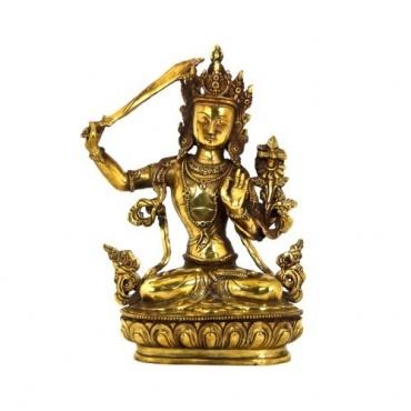 Statue de Manjushree en métal