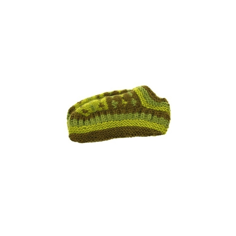 Chaussons de nuit en laine vert