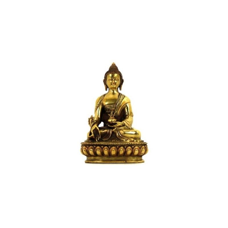 statue bouddhiste du bouddha de la m decine sangy menla n pal toit du monde. Black Bedroom Furniture Sets. Home Design Ideas