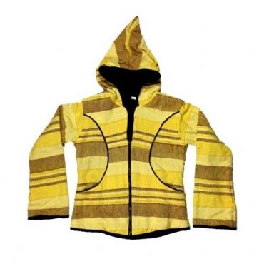 Veste à capuche jaune printanière L