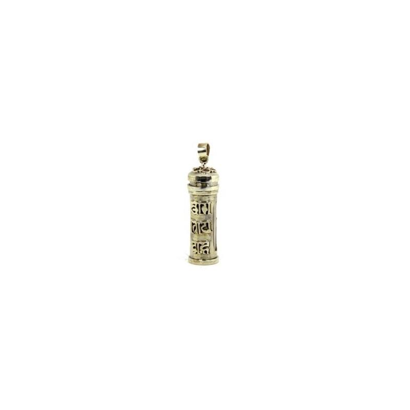 Pendentif tibétain cartouche vertical