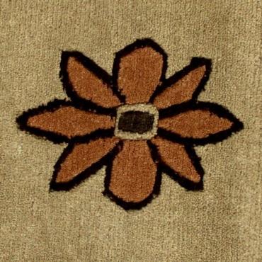 Tapis Tibétain fleuri