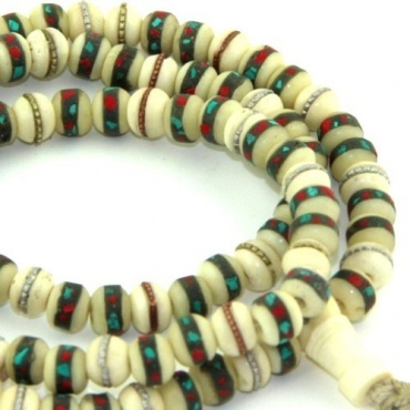 Mala blanc turquoise et corail 25