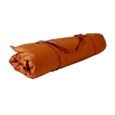 Zabuton brun tabac et zafu chocolat