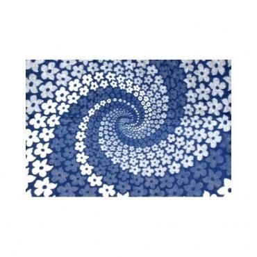 Couverture Châle spirale bleu