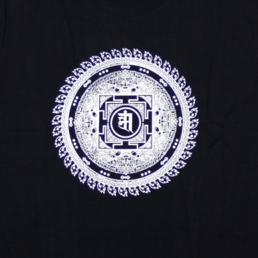 Tee-shirt noir Mandala