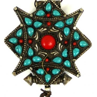 Amulette collier pendentif Tibétain