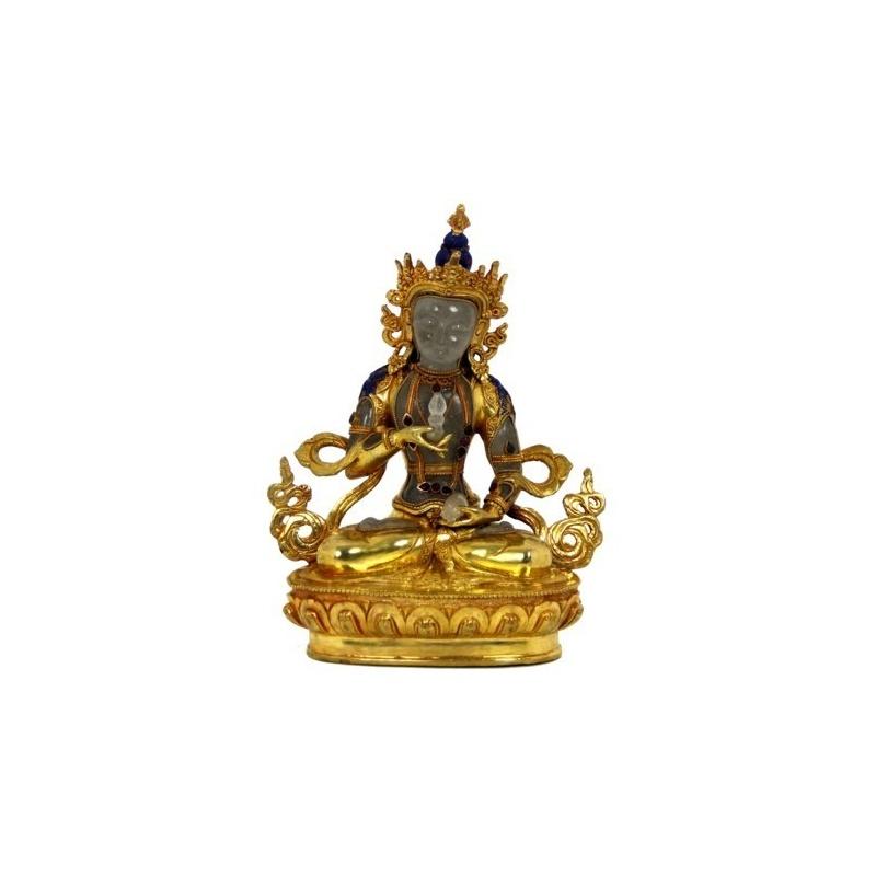 Vajrasattva statue cristal et or