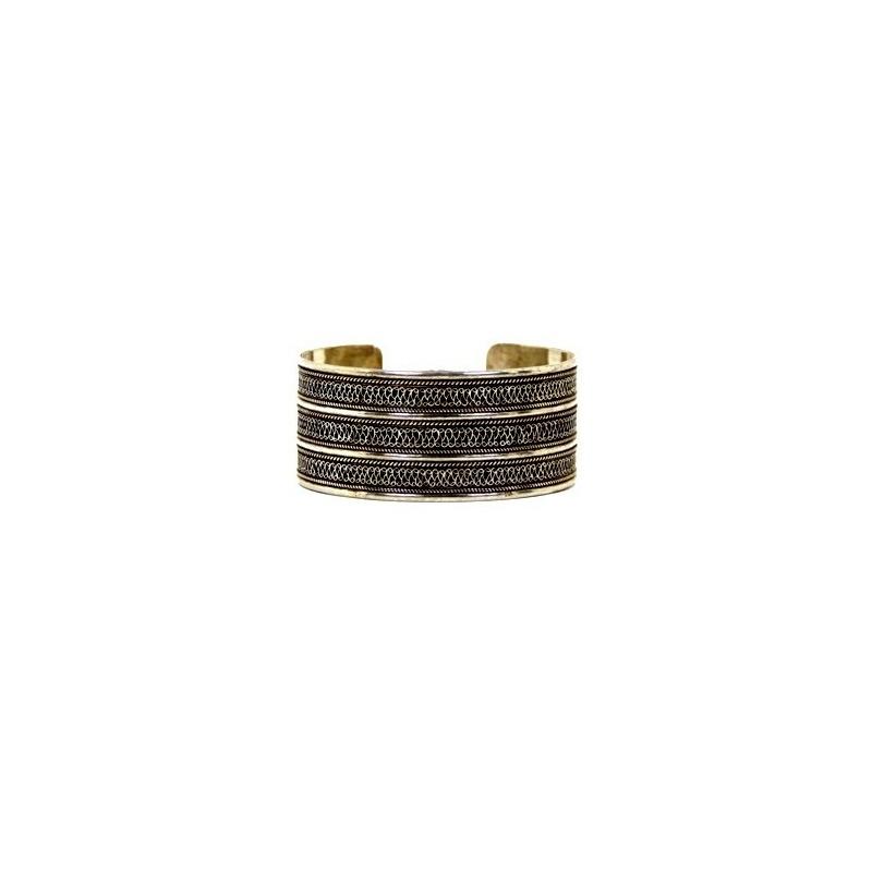 Bracelet large en argent