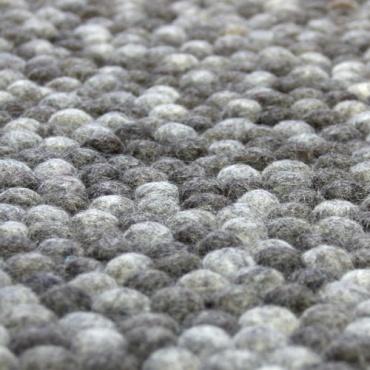 Tapis boules laine naturelles