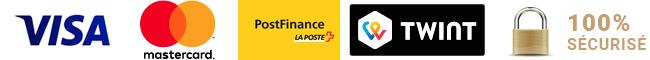 Paiement  100% Sécurisé par carte VISA / Mastercard / PostFinance / TWINT